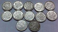 13 coins russia 50 Kopeks coins copy