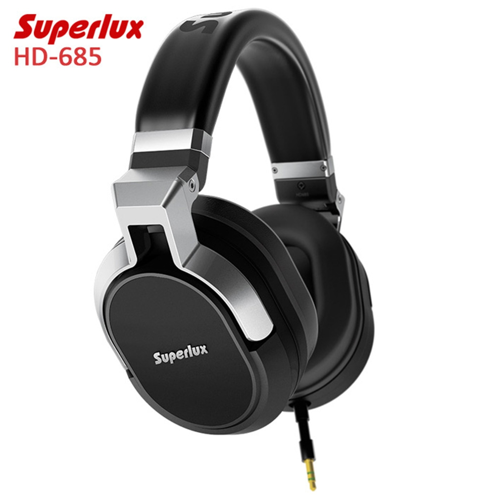 Original Superlux HD-685 Rich Bass Music Headphones with Microphone Remote Control Support Hands-free Calls