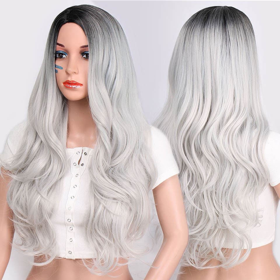 Jumbo Braids Motivated S-noilite 24 One Piece Synthetic Ombre Kanekalon Braiding Hair Crochet Braids Hairstyles Hair Extensions Silver Gray Black Soft And Light
