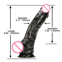 10 inch Huge Black Dildo Realistic Adult Sex Toys For Women Super Big Faloimitator Artificial Penis Men Dick Female Masturbation