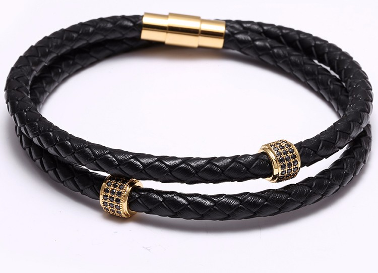 Very nice and modern leather bracelet
