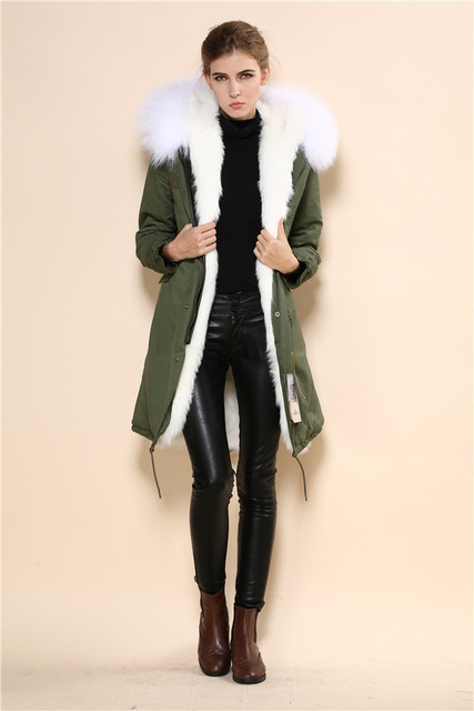 Fur Jacket Manufacturer Original Desige Faux Fur Lined Parka Cream ...