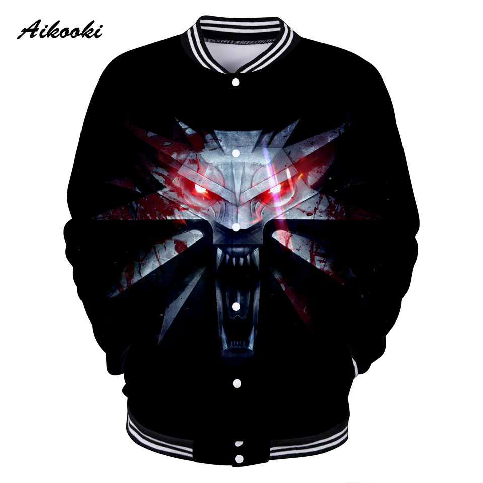 Aikooki The Witche 3D Jacket Women / Men Sweatshirt Jacket Black Design 3D Girls/Boys Jackets Baseball Hip Hop Fashion Tops Coat