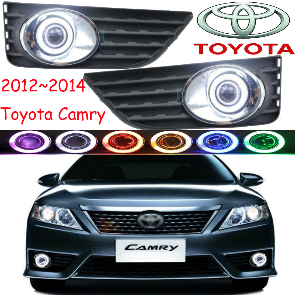 Car-styling,Camry fog lamp,2012~2014,chrome,LED,Free ship!2pcs,Camry head light,car-covers,Halogen/HID+Ballast;Camry us version  car styling 2012 2014 camry