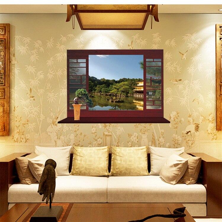 Maruoxuan 3d chinese stijlen fake window muursticker voor kamers ...
