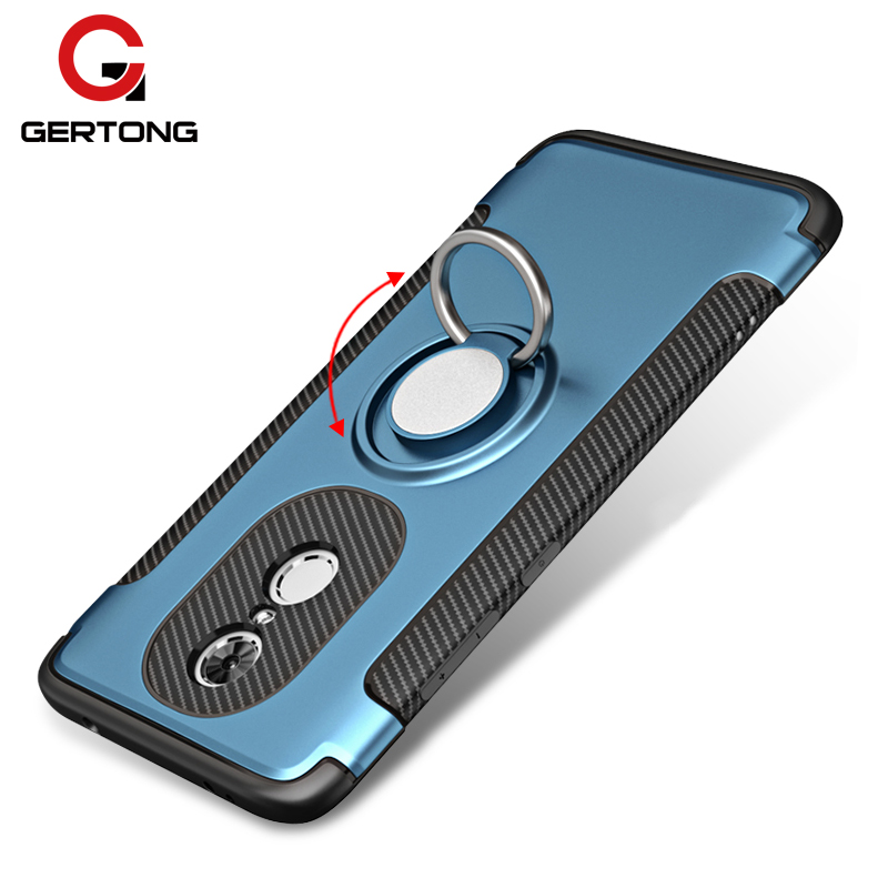 GerTong Phone Case Cover For Xiaomi Redmi 4X 4A Note 5A Prime 4 4x Pro Y1 Lite Mi A1 Mi5X Mi6 MiX 2 Finger Ring PC& TPU Housing