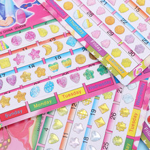 Dos desenhos animados 120 pçs/2 folha maravilhosa recompensa cristal adesivos de brinquedo crianças cabeça adesivos brinco diy adesivo brinquedos crianças brinquedo