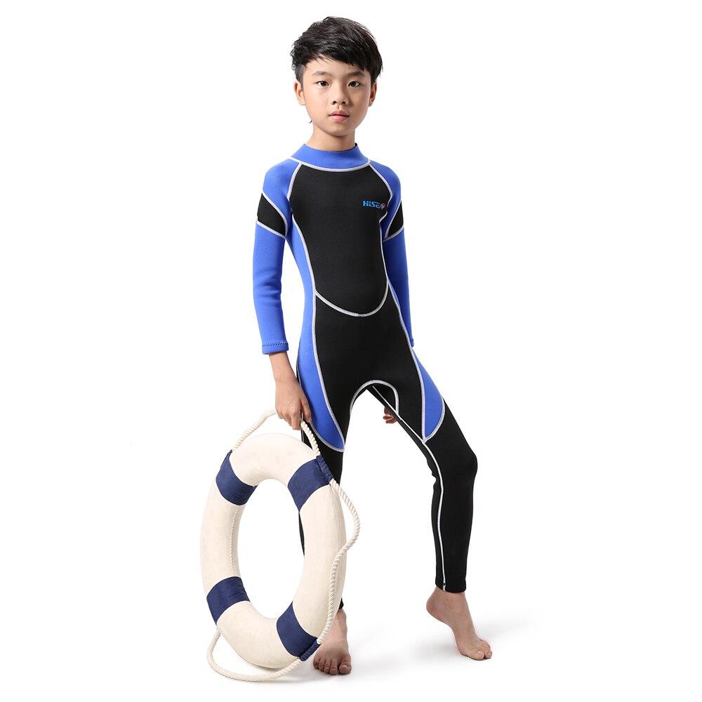 Kids Neoprene Diving Wetsuit  Boys Girls Long Sleeve UV Protection Back Zipper Sleeves Wetsuits Suits