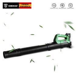 DEKO Original Cordless leaf Blower Cordless String Blower 20V 1500mAh Electric Air Blower Cordless Sweeper Garden Tools