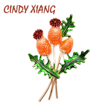 CINDY XIANG New Arrival Enamel Flower Brooches for Women Beautiful Elegant Brooch Pin High Quality Jewelry Spring Style Gift cindy xiang 4 colors avaibale crystal flower brooches for women wedding pin pendant brooch spring new arrival high quality gift