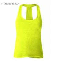 Women Shockproof yoga Vest Workout T Shirts Quick Dry Running Gym sports yoga Shirt Women Crisscross back sleeveless sport top