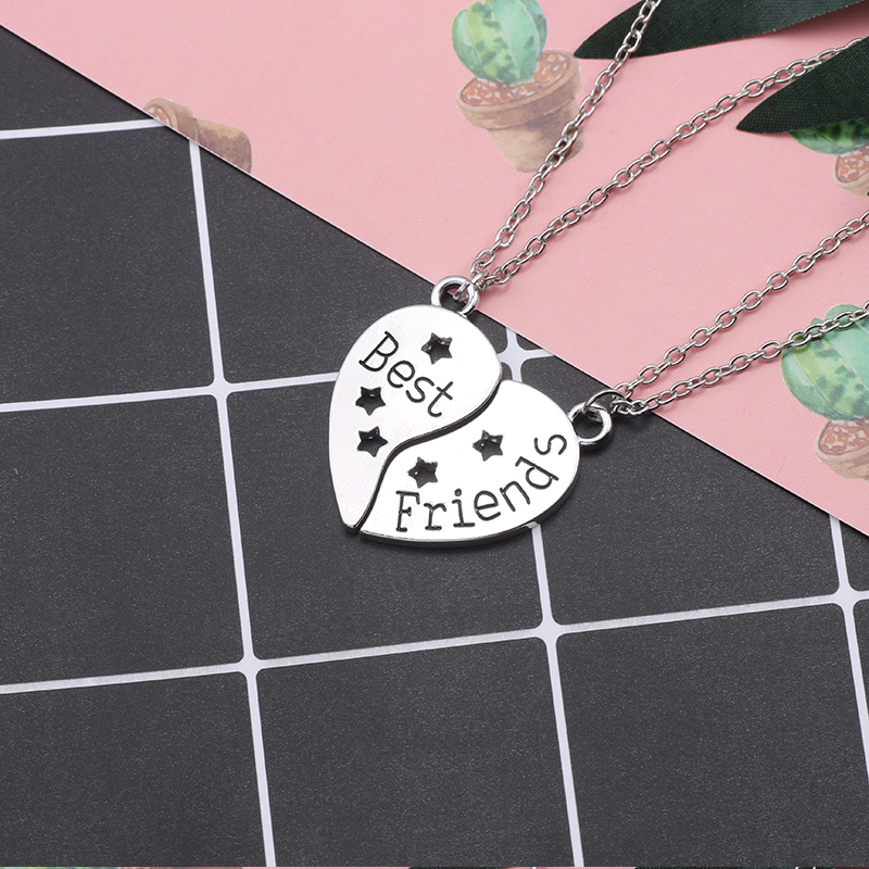 HTB1zl uebrpK1RjSZTEq6AWAVXaD - Best Friend Necklace Women Crystal Heart Tai Chi Crown Best Friends Forever Necklaces Pendants Friendship BFF Jewelry Collier