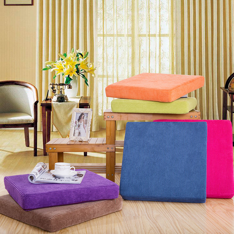 Cushion, Soft And Comfortable Chair Cushion Solid Color Seat Cushion Square Floor Tatami Cushion Home Office Universal Comfort F