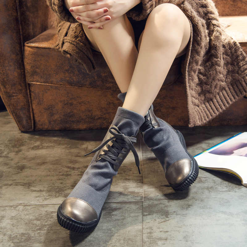 Fashion 2018 winter boots new women s boots in the thick with PU nylon warm  black   e6e10d403fe4