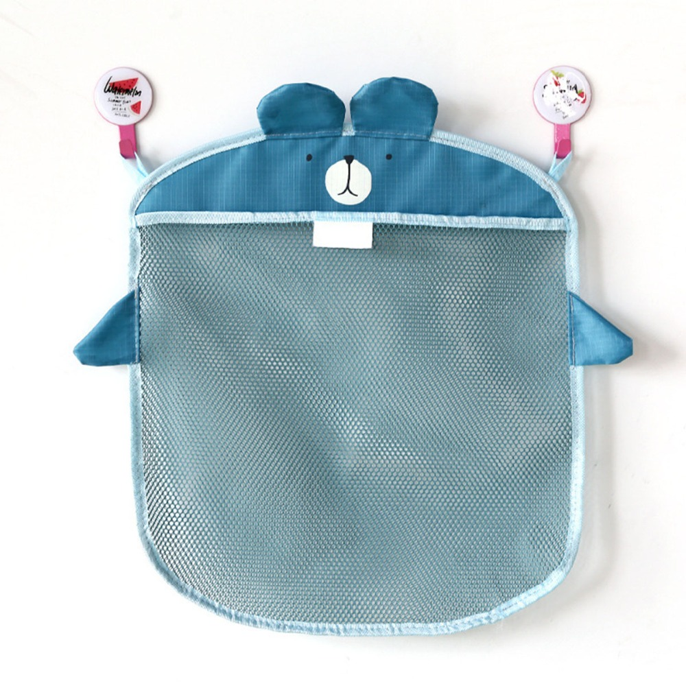 MWZ Baby Kids Bath Bathtub Mesh Net Bag Cartoon Hanging Colorful Network Bag Baby Folding Organizer Bathroom Toy Storage Basket