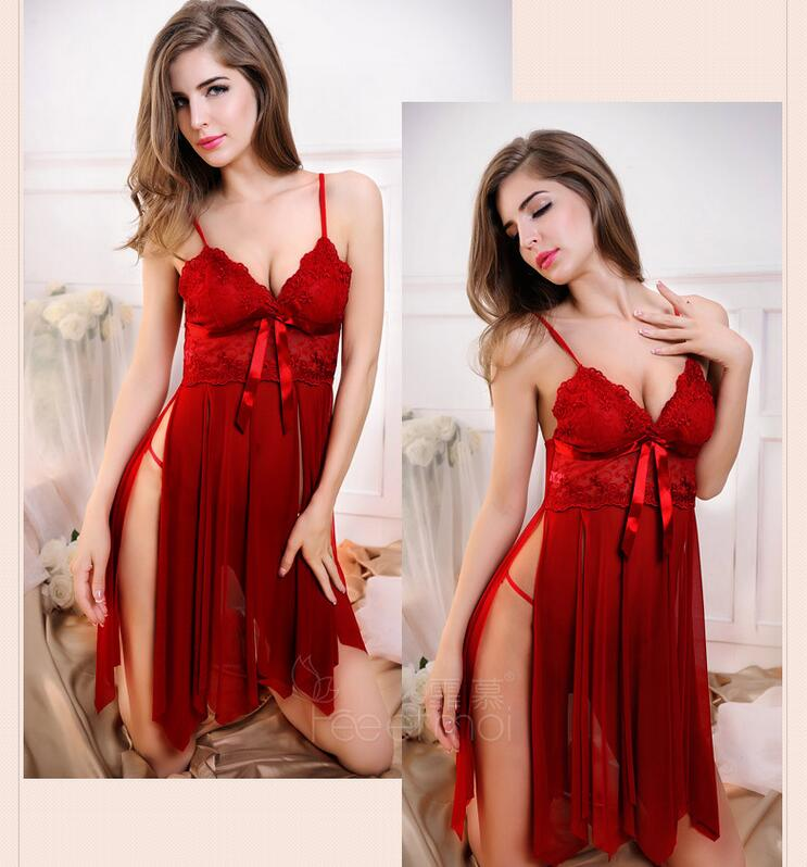 Sexy Kimono Robe Satin Women Silky Dress Bride Lingerie Nighties Split Sleepwear Pajamas Mini Dress Erotic Babydolls Nightwear
