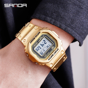 Image 3 - 三田メンズ腕時計トップブランドの高級ledデジタル腕時計メンズファッション防水スポーツ時計男性時計レロジオmasculino