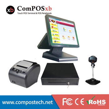 15''12''  dual touch screen pos machine//pos all in one system//terminal pos machine      pos1619D