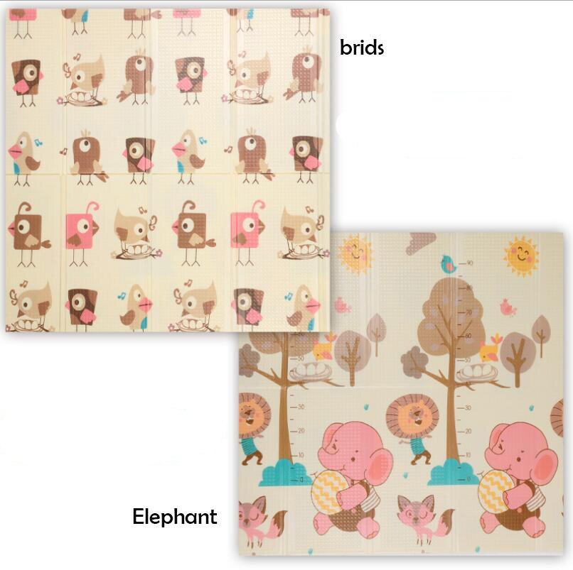 Tapis de jeu bébé 1 cm d'épaisseur pliable dessin animé bébé développement tapis pour enfants tapis ramper Pad Puzzle enfants Gym jeu tapis de jeu