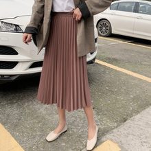 Surmiitro Elegant Solid Midi Pleated Skirt Women 2019 Autumn Winter Ladies Korean High Waist A-line School Long Skirt Female