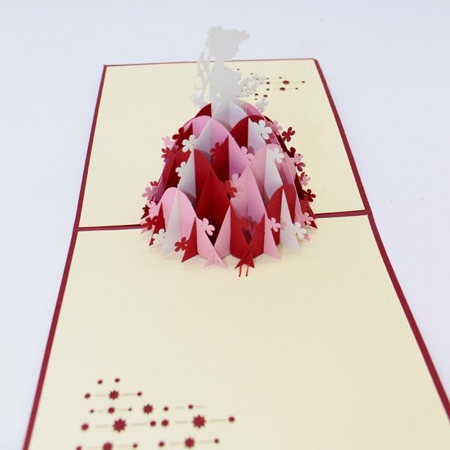 Großartig Hot 1 Stück 3D Papier Laser Cut Carving Hochzeit Schleier Mädchen  Grußkarten Party Einladungs Karte