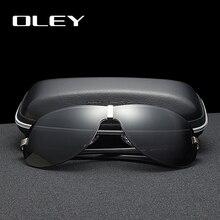 מותגים עולי אלומיניום מקוטב נהיגה משקפי שמש לגברים מעצב משקפיים ללא שפה שמש עם איכות גבוהה מסגרת גדולה glasse