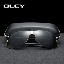 OLEY Brands Aluminum Polarized Driving Sunglasses for Men glasses Designer with High Quality Big frame rimless  sun glasse
