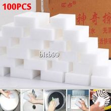 100pcs White Multi-functional Magic Sponge Eraser Cleaner 100 x 60 20mm free shipping
