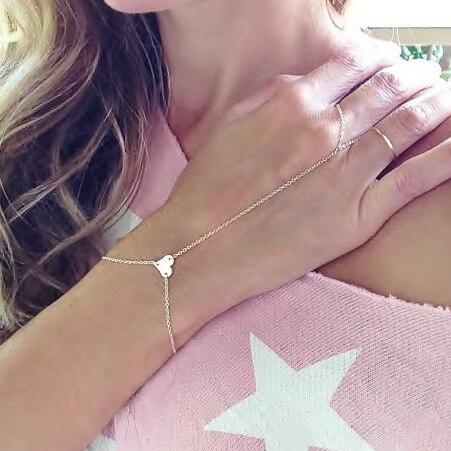 Женская цепочка на палец с сердечком, богемная цепочка на палец, оптовая продажа, 3B212