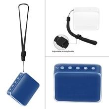 ТПУ защитный кожаный чехол с ремешком для JBL GO 2 Bluetooth динамик AUG-10A