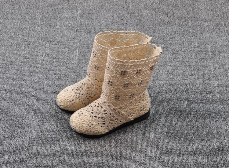 (A241)18 Classical Kids Shoes Summer Girls Boots Knitting Hollow Children Shoes Fashion Network Boots For Girls 6