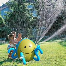 Inflatable Spraying Octopus Summer Children Outdoor Playing Water Game Water Jet Ball Beach Ball Lawn Game Spraying Octopus Toy