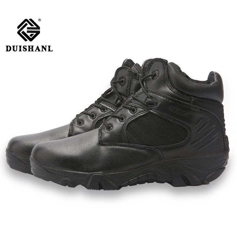 Deserto Sandy De Qualidade Do Trabalho Tornozelo Botas Exército Alta Homens Moda Dos Militares black Tático Neve Couro Sapatos Combate Esporte Barcos HgwqwOf