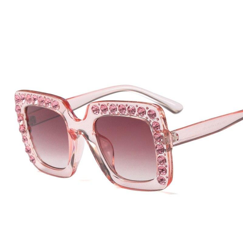 ea843a284 Enormes óculos de Sol Quadrados Do Cutie Sella 2018 Nova Moda das Crianças  Decoração Diamante Brilhando