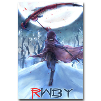 Аниме плакат гобелен шелковый RWBY вариант 3