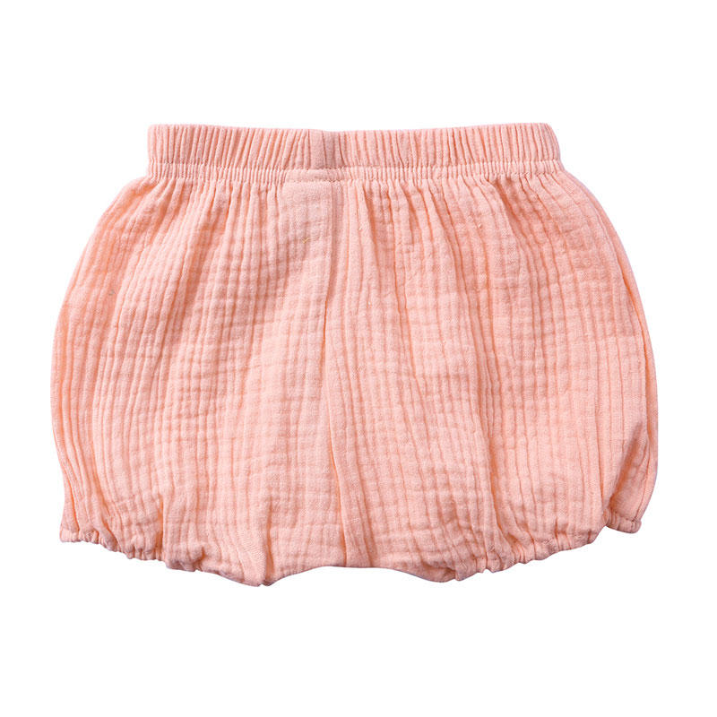 Hot Sale Solid Colors Kids Boys Shorts Summer Baby Girl Shorts Cotton Linen Bread Children Pants Fashion Newborn Bloomers 1