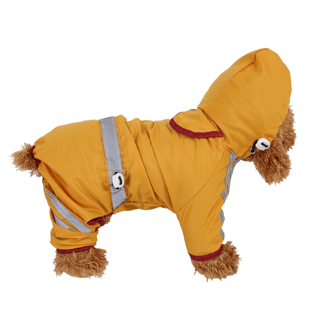 Dogs Raincoats For Pets Cat Dog Raincoat Waterproof Jacket Hood Drawstring Pet Rain Coat
