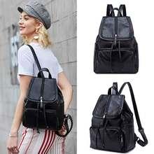 FULANPERS Backpack Female Cute Womens Design Crossbody Bag Fashion Kpop Ladies Pu Black