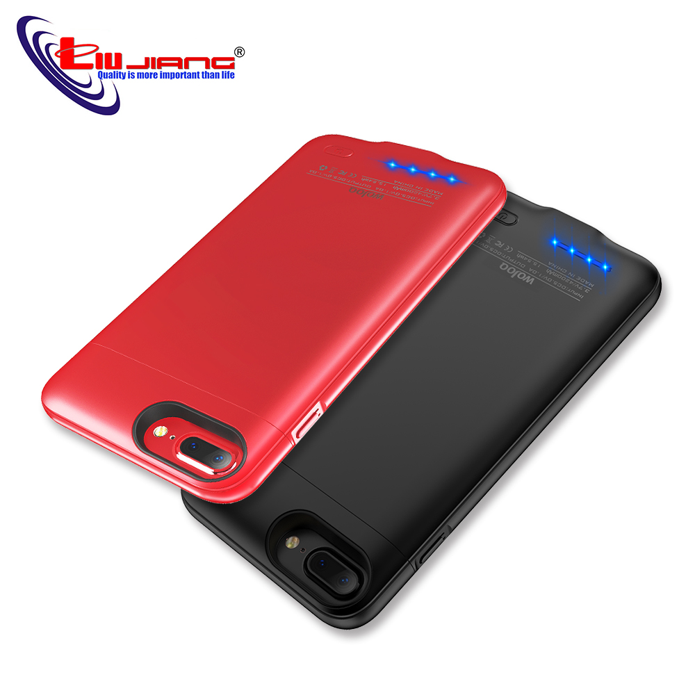 <font><b>Battery</b></font> Charger <font><b>Cases</b></font> for <font><b>iPhone</b></font> <font><b>6</b></font> 6s 7 8 Plus Power <font><b>Bank</b></font> <font><b>Case</b></font> Ultra Slim External Pack Backup Charging <font><b>Case</b></font> iP6 3000/4200 mAh image