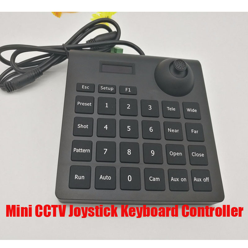 Free Shipping Mini CCTV Joystick Keyboard Controller for Security Pan Tilt Zoom PTZ Speed Dome Camera