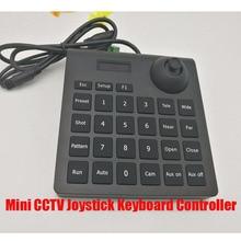 Darmowa wysyłka Mini joysticka CCTV sterownik klawiatury dla bezpieczeństwa Pan Tilt Zoom PTZ prędkości uchwyt na aparat Pelco P/D