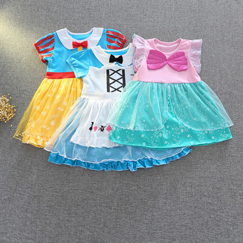 F5180 Fairy Costume Colorful Princess Toddler Girls Dress A-line Summer Kids Dresses For Girls Wholesale Baby Girl Clothes 5PLot