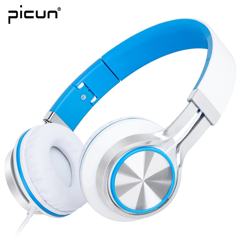 Picun HD200 Birthday Gifts Portable Folding Headphones Stereo Handsfree Sport Headset With Mic For Apple Xiaomi Sony Asus Lenovo picun c3 rose gold headphones with microphone for girls ps4 gaming headsets for apple iphone se galaxy s8 s7 a5 sony leeco asus