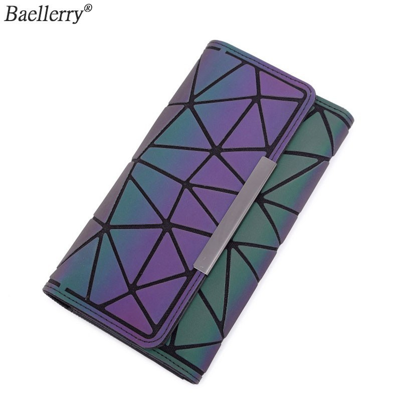 Baellerry Luminous 2019 Money Clip Female Trifold Wallet Slim Thin Women Purses Long Clutch Wallets Money Bag(China)