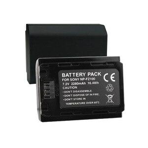 Image 4 - Npfz100 np fz100 bateria NP FZ100 bateria + carregador lcd para sony ILCE 9 a7m3 a7r3 a9/a9r 7rm3 BC QZ1 alpha 9 9 s 9r câmera digital