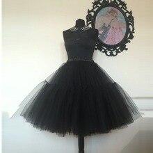 Реальное изображение, черная Тюлевая юбка s, Женская плиссированная юбка-пачка до колена с оборками, юбка миди для подружки невесты, фатиновая юбка, нижняя часть, на заказ