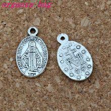 Catholic Icon Religious Medal San Benito alloy charm Pendant Jewelry DIY 10x17.2mm 150Pcs/lot Antique silver A-385