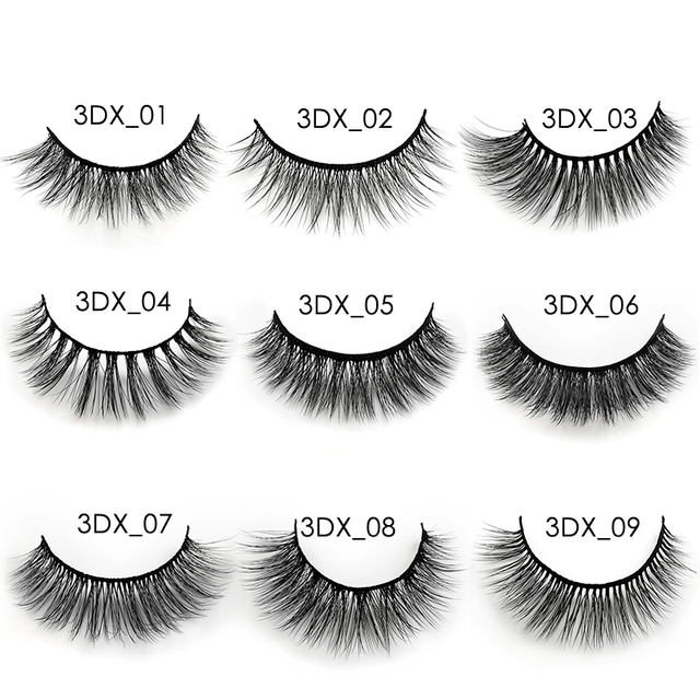 3 pairs 20 styles 3D Faux Mink Hair Soft False Eyelashes Fluffy Wispy Thick Lashes Handmade Soft Eye Makeup Extension Tools 4