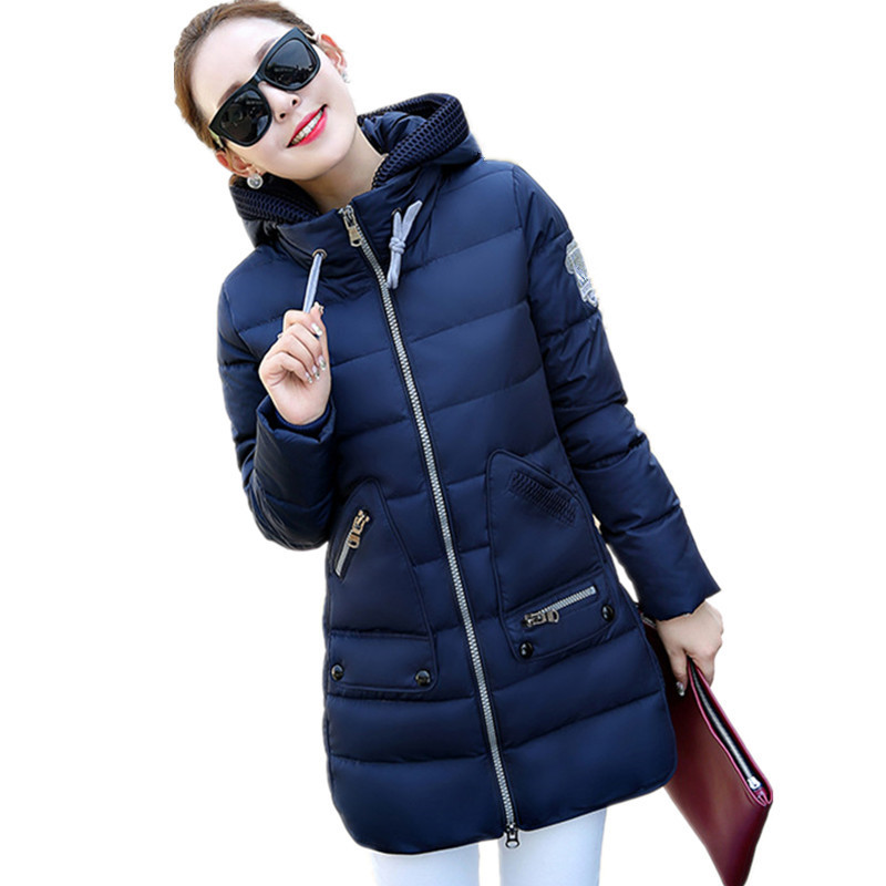 High Quality Plus Size Thick Hooded Warm Medium-long Parkas Women Fashion Large Pockets Winter Cotton Coat Parka 7xl TT2892 high quality 2017 new winter fashion cotton thick women jacket hooded women parkas coats warm parka outerwear plus size 6l69