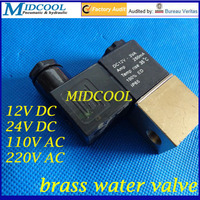 Micro Brass Water Valve 2V025 06 2 Position 2 Way Solenoid Valve 1 8 BSPP 12V